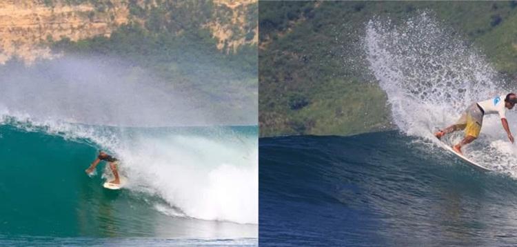 グルプックでサーフィン