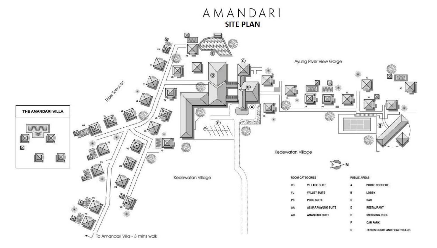 アマンダリのマップ