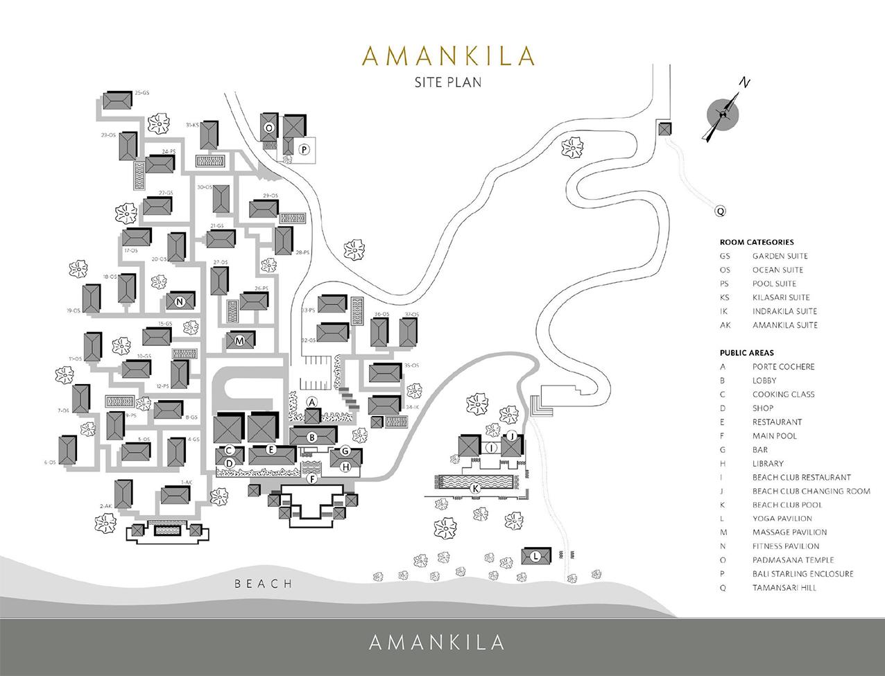 アマンキラのマップ