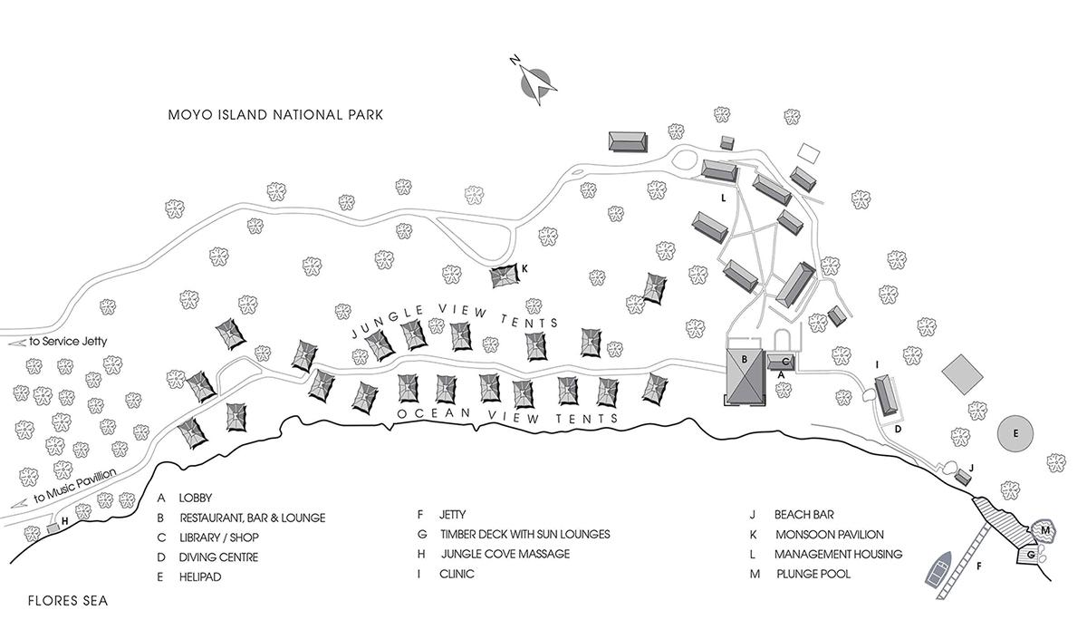アマンワナのマップ