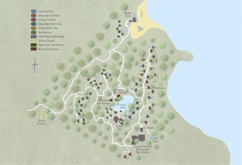 アマノイのリゾート内マップ