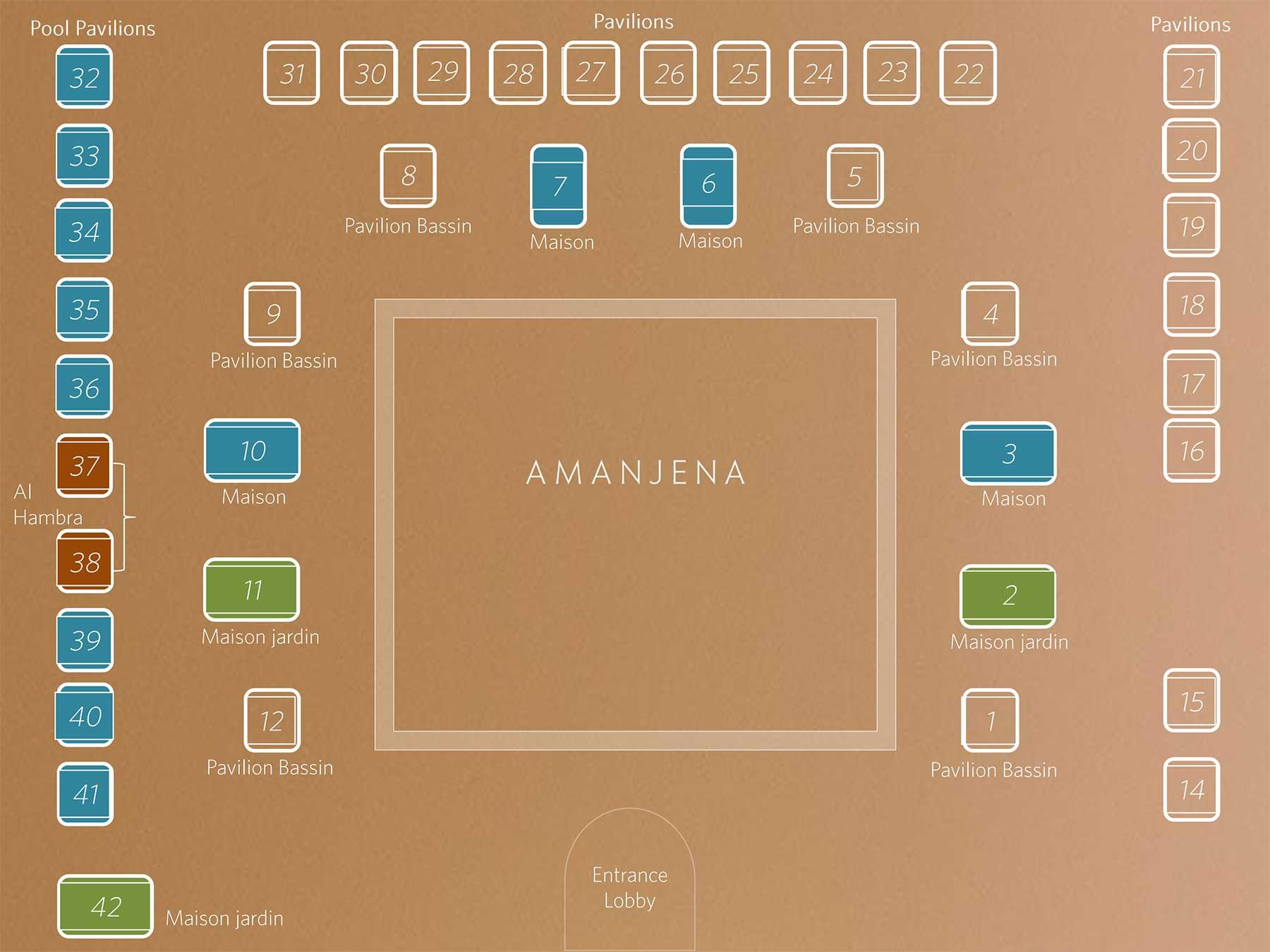 アマンジェナのマップ