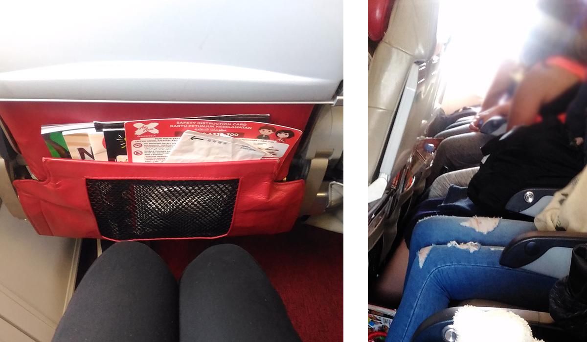 エアアジアXの座席