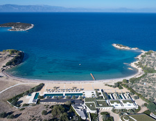 上空から見たビーチクラブ