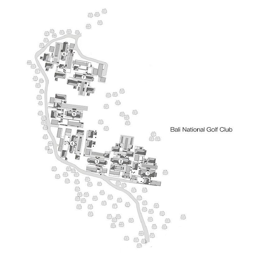アマン・ヴィラ・アット・ヌサドゥアのリゾート内マップ